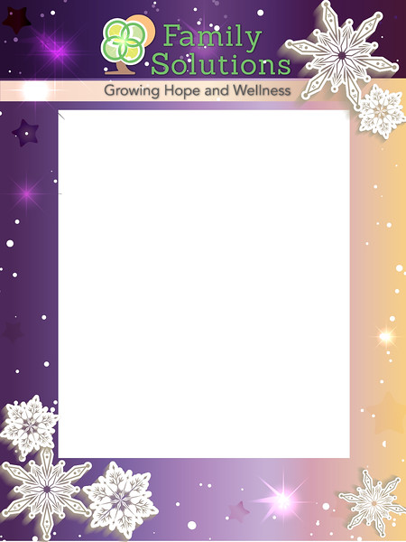 Family Solutions Holiday party 2018 VIP Photobooth Frame
