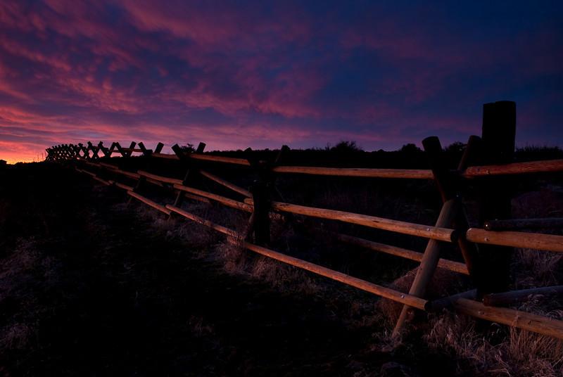 Sunset over Cowiche Ridge