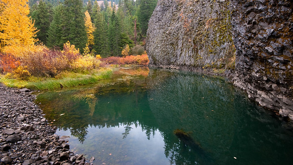 A pond in the old riverbed of the Naches River