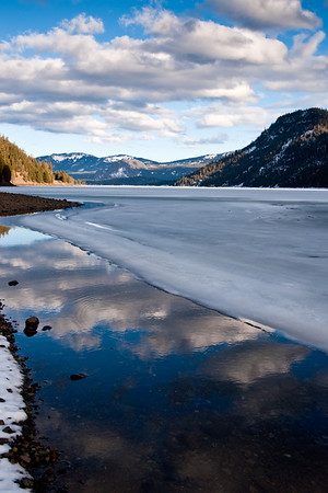 Spring thaw at Rimrock Lake