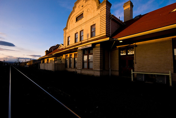 Old Northern Pacific passenger train depot in Yakima