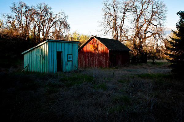 Farm Sheds near Cowiche Creek