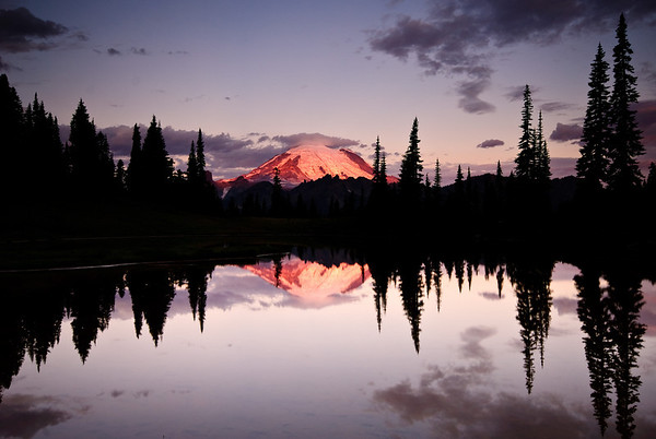 A dawn reflection of Tahoma (Mt Rainier)