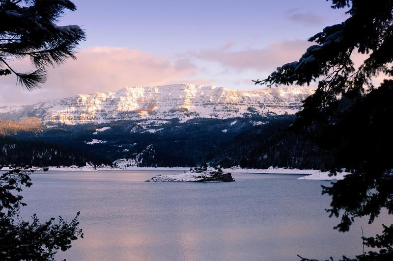 Strobach Mountain across Rimrock Lake
