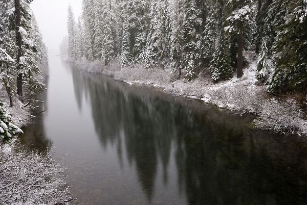 First snow on the Cooper River - Cle Elum River Valley