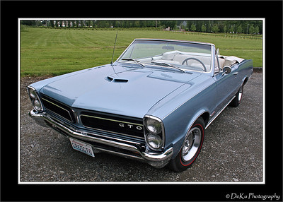 Light Blue 1965 GTO
