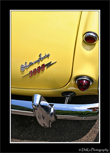 Close up of an Austin Healey bumper & tail-lights
