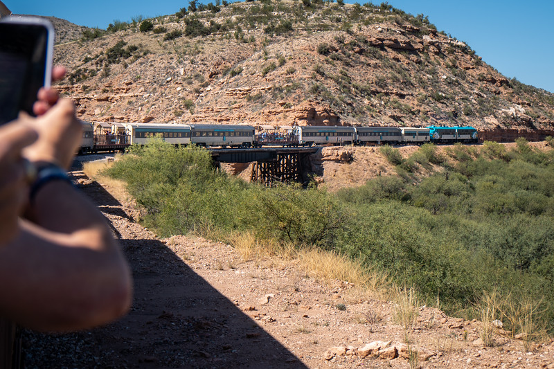 One of the many bridges on the route of the Verde Canyon Railroad