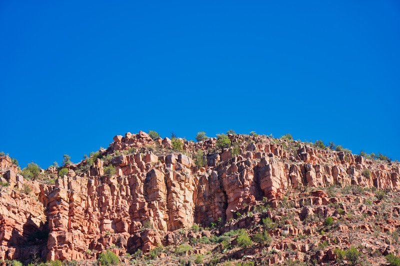 Chunky red bluffs of Verde Canyon