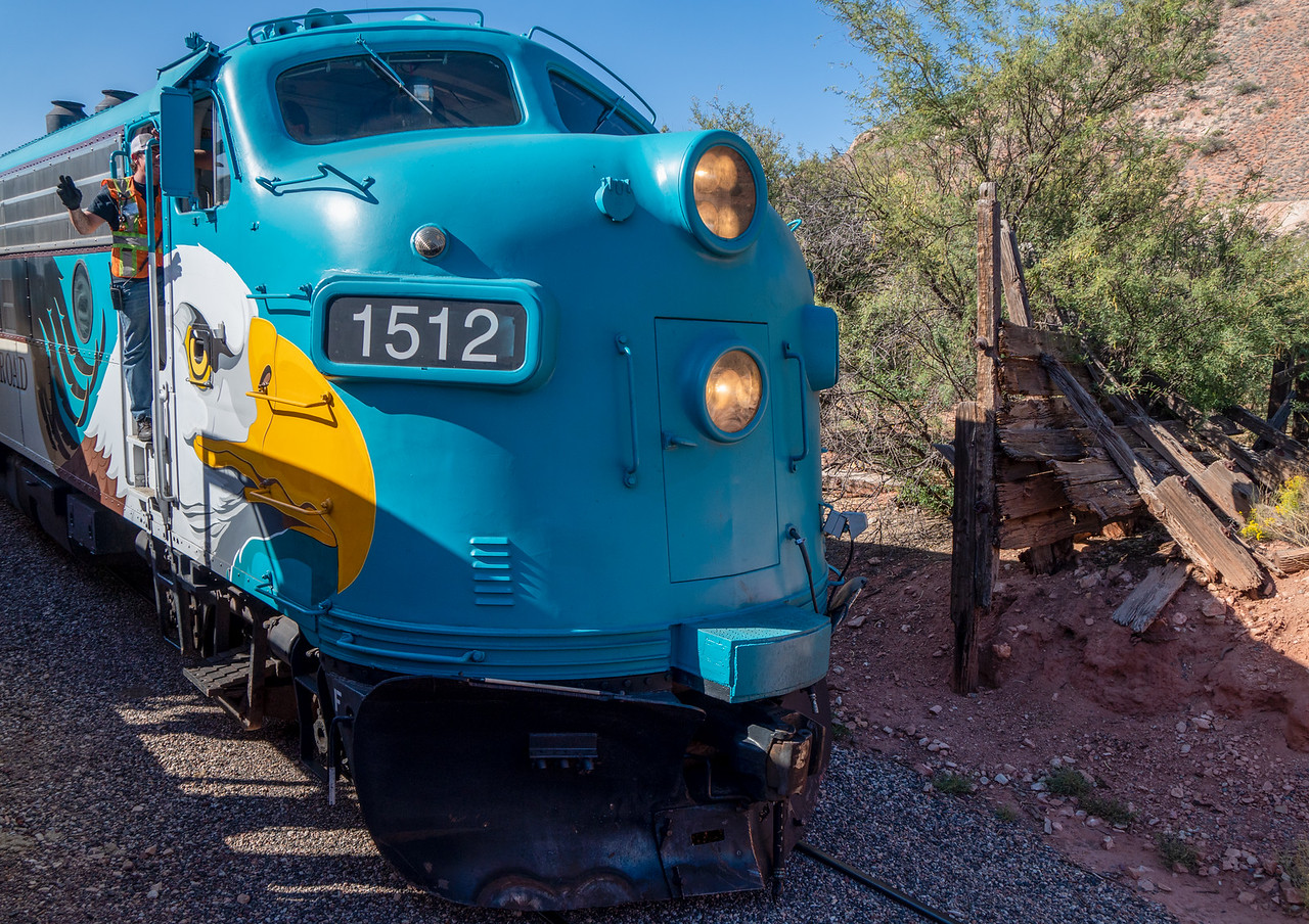 One of the FP7 locomotives used on my Verde Canyon Railroad excursion