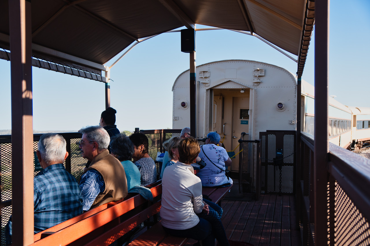 The open-air car on the Verde Canyon Railroad