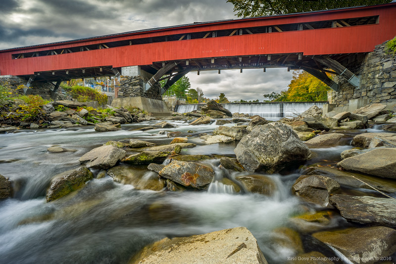 Taftsville Covered Bridge and Falls-4