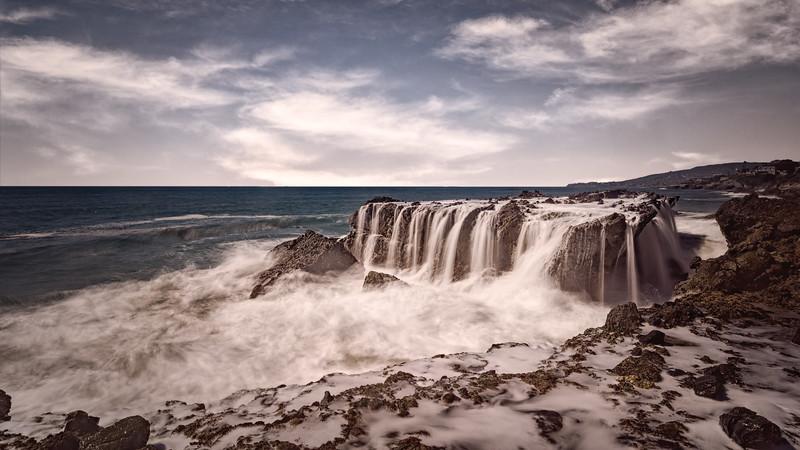 Victoria Beach Waterfalls