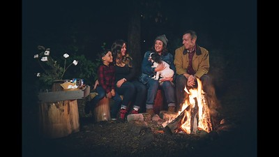Robson Family Campfire Portrait Session