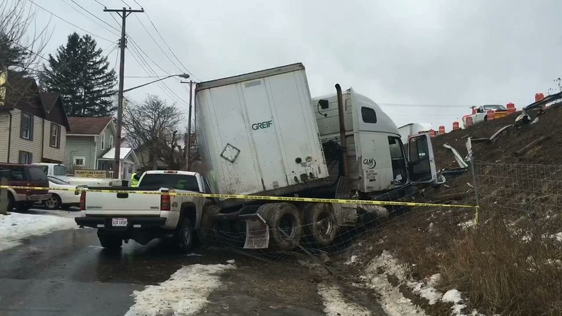 US 30 Semi accident