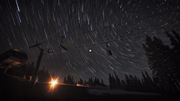 Star Trails Over Breckenridge