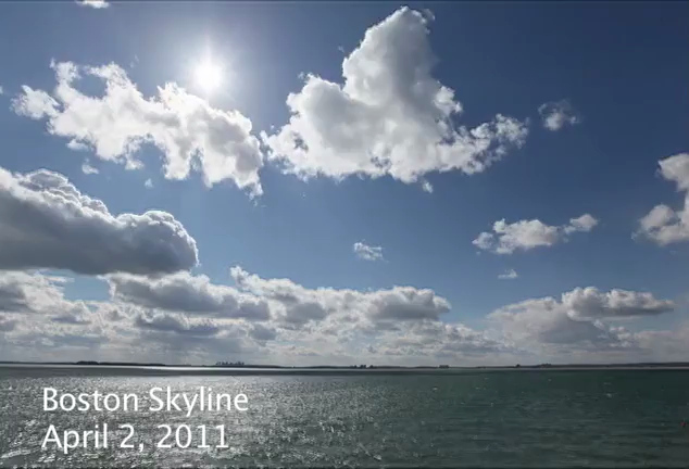 Spring timelapse of Boston from Nahant