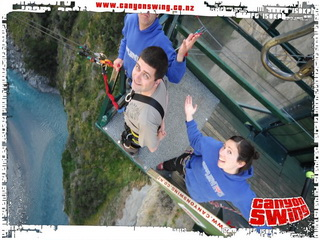 Canyon Swing Pin Drop à Queenstown