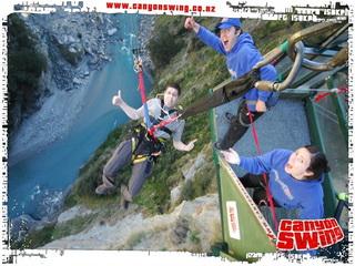 Canyon Swing gimp boy à Queenstown