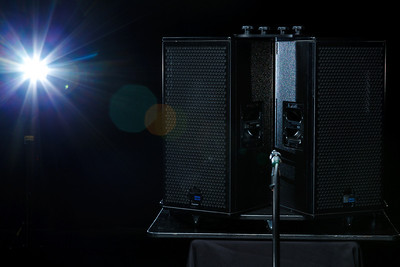 Lighting setup for educational training video on loudspeaker coverage patterns.