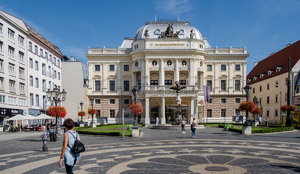 The  Main Square In Bratislava, Capital Of Slovakia
