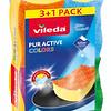 8610899 VILEDA PurActive svammid (värvilised) 3+1tk 4023103208889