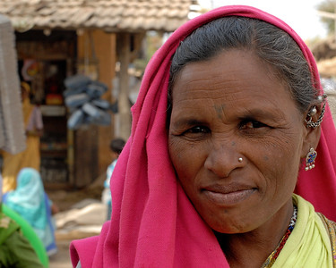 Lady visiting the local village Haat (Village fair). Sunday market