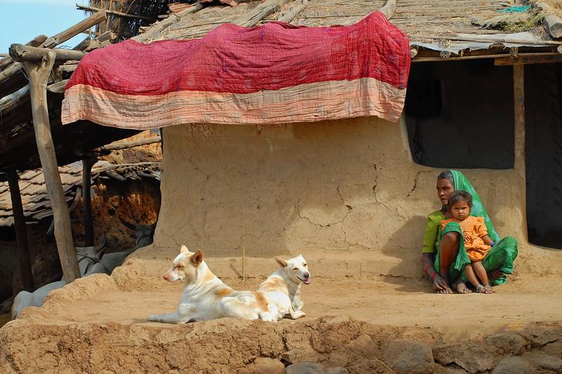 Rural home in MP (Madhya Pradesh), India.