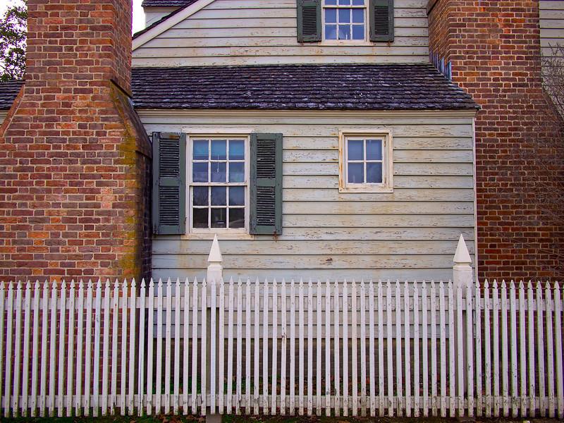 A mix of textures, Colonial Williamsburg - Williamsburg, Virginia