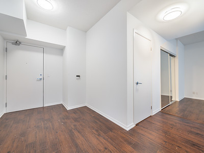Entrance Area - Den/Desk on right wall (Touch up floor spots)
