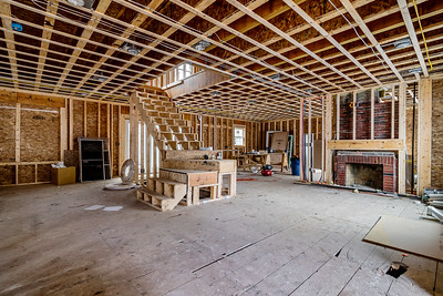 LR, Family Room Looking at Kitchen