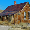 "Long-abandoned dwelling in ""ghost town"" of Bodie, CA., near Mono Lake in Eastern Sierra. In latter half of 19th century, Bodie was a thriving silver-mining town with a reputation for lawlessness. Bodie is open to public as highlight of Bodie State Historical Park.  [UFP 101109]"