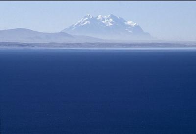 Nevado Illimani, Lake Titicaca, Bolivia, 2000.