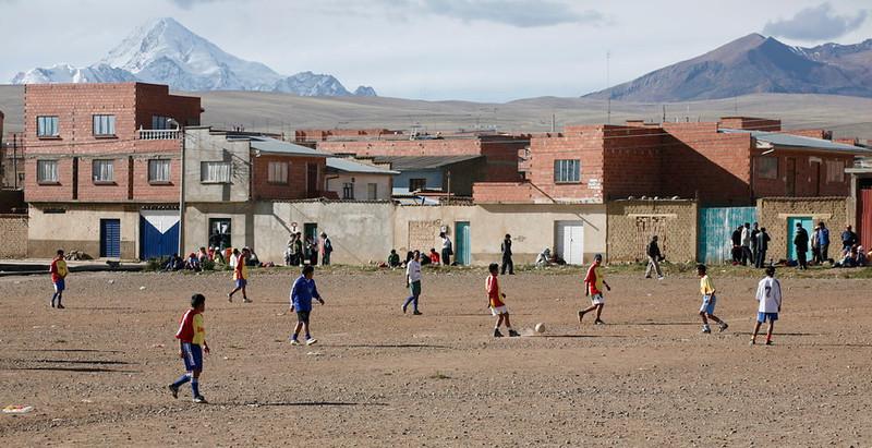 Soccer Game in Huayna Potosí, 2007.
