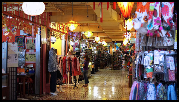 The Peranakan Row. Central Market.