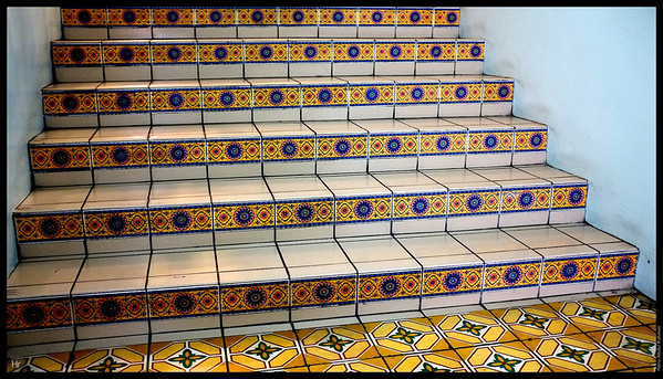 More neat tiles. Central Market.