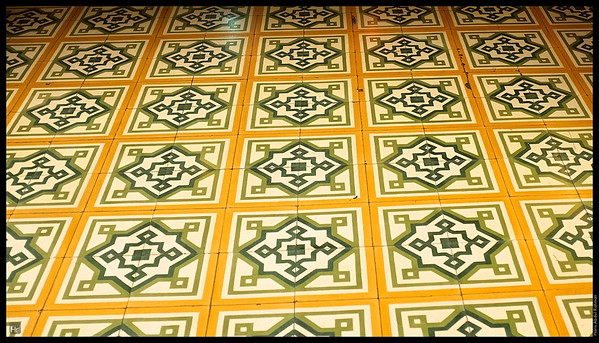 More close-up of the tiles. Central Market.