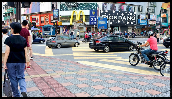 The famous intersection at Bukit Bintang.