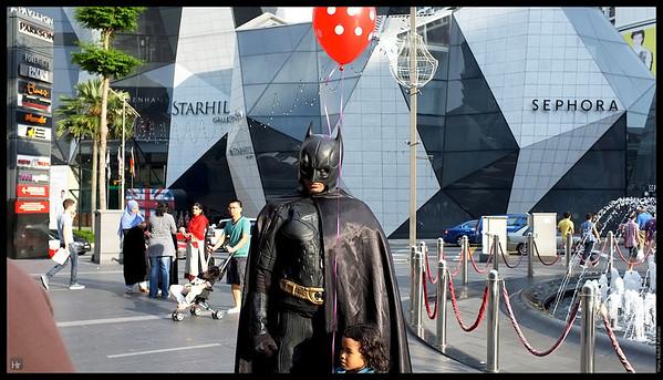 Bruce Wayne and balloon
