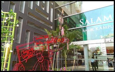 By the entrance  Aidilfitri 2013 Pavilion Kuala Lumpur