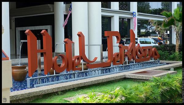 In front of the hotel  Kota Bharu, Kelantan 14th October 2013