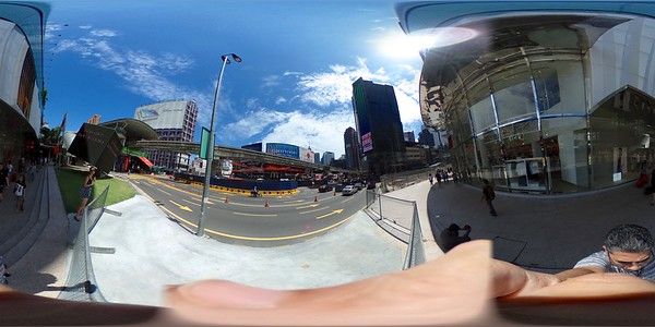 Exploring Bukit Bintang through the unique perspective of the Theta S
