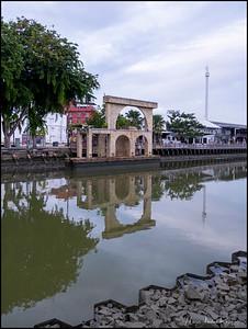 Walking around Bandar Melaka early Sunday morning