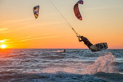 Naples Beach Kiteboarding Color