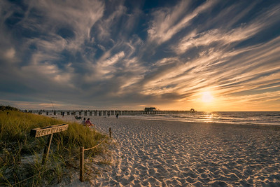 Naples Beach Sunset Swirl
