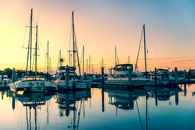 Sail Boats at Sunrise in Fort Myers