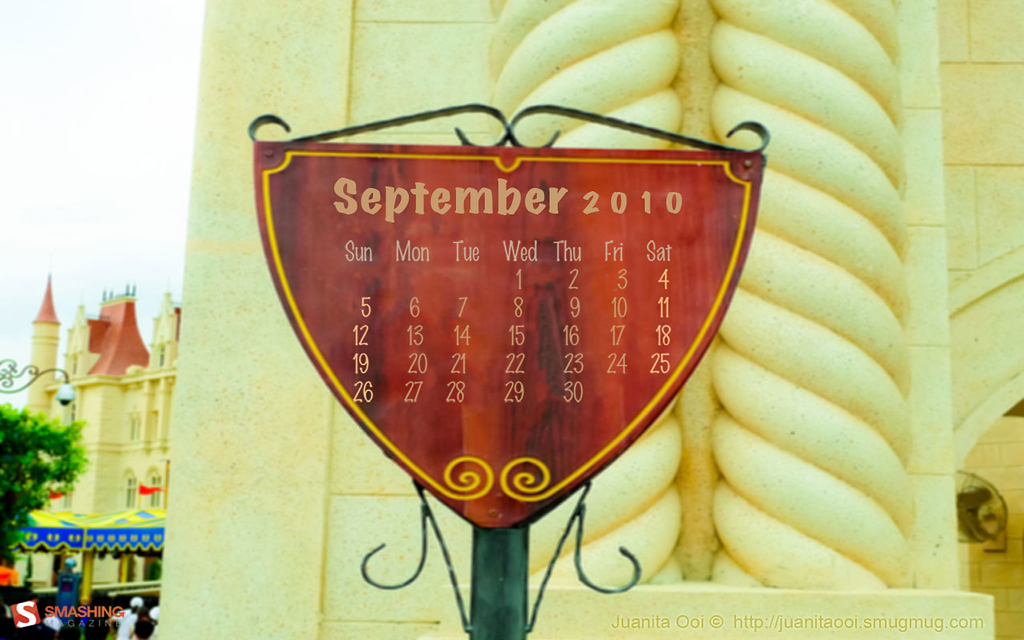 """<h3>Title:</h3>  <span style=""""color:#F08080"""">Far Far Away </span>  <span style=""""color:#CDB7B5""""><h3>Desktop Wallpaper Calendar: September 2010</h3></span>  <span style=""""color:#CDC8B1""""><em>""""Wherever you go, no matter what the weather, always bring your OWN sunshine.  (Anthony J. D'Angelo, The College Blue Book)"""" </em></span>  You are allowed to download this photograph either with <span style=""""color:#6B8E23"""">or</span> without calendar.    Dimensions include: 1280×800, 1280×1024, 1440×900, 1680×1050 and 1920×1200.    <span style=""""color:#F6C9CC""""><em>Downloads: </em></span>  <span style=""""color:#EEE685"""">With Calendar:</span> <a href=""""http://dl.dropbox.com/u/10433669/SM_Sept2010_With%20Calendar_Wallpapers/September-10-Far-Far-Away-calendar-1280x800.jpg"""">1280×800</a>, <a href=""""http://dl.dropbox.com/u/10433669/SM_Sept2010_With%20Calendar_Wallpapers/September-10-Far-Far-Away-calendar-1280x1024.jpg"""">1280×1024</a>, <a href=""""http://dl.dropbox.com/u/10433669/SM_Sept2010_With%20Calendar_Wallpapers/September-10-Far-Far-Away-calendar-1440x900.jpg"""">1440×900</a>, <a href=""""http://dl.dropbox.com/u/10433669/SM_Sept2010_With%20Calendar_Wallpapers/September-10-Far-Far-Away-calendar-1680x1050.jpg"""">1680×1050</a> and <a href=""""http://dl.dropbox.com/u/10433669/SM_Sept2010_With%20Calendar_Wallpapers/September-10-Far-Far-Away-calendar-1920x1200.jpg """">1920×1200</a>.   Otherwise,  Click <a href=""""http://www.smashingmagazine.com/2010/08/31/desktop-wallpaper-calendar-september-2010/"""">here</a> to proceed to the download page of this photograph. (either with <span style=""""color:#6B8E23"""">or</span> without calendar).   Thank you!"""