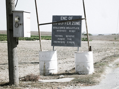Buffer zone border, Pyla, Cyprus