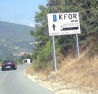 KFOR border control, Kosovo