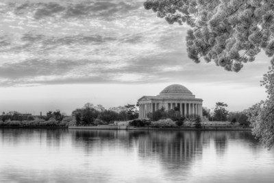 National Cherry Blossom Festival: Burning Sunrise HDR